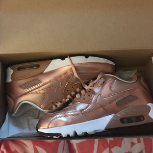 Metallic Rose Gold Air Max's